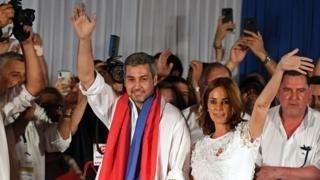 Mario Abdo Benítez won by a smaller margin than predicted. AFP