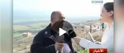 Guy smoking shisha during news broadcast not fazed by Israeli airstrikes (video)
