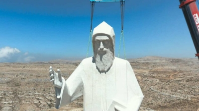 Largest Statue of Saint Charbel Installed on Faraya Mountain