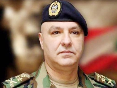 The Chief Commander of the Lebanese Army General Joseph will arrive in Australia on Sunday 20th May